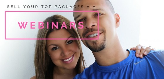 sell your top packages via webinars
