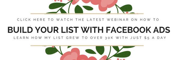 Free list building webinar