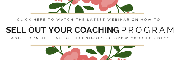 Free webinar learn to sell out your coaching packages