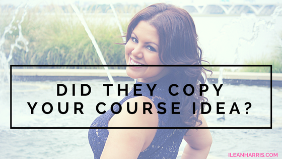 Did they copy your course idea?