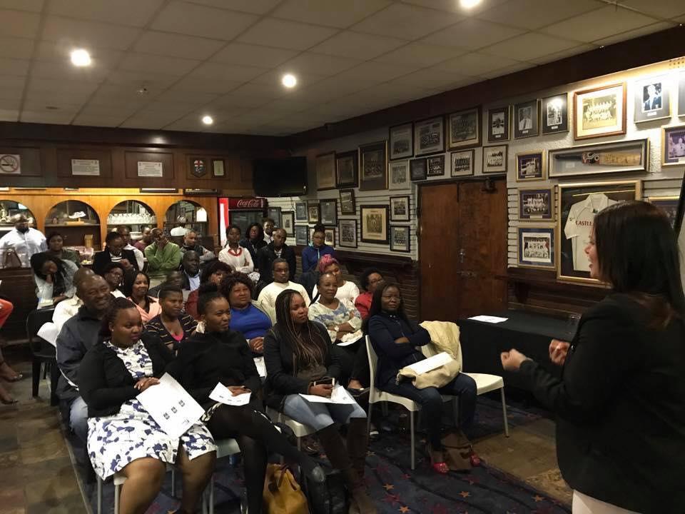 speaking in Johannesburg
