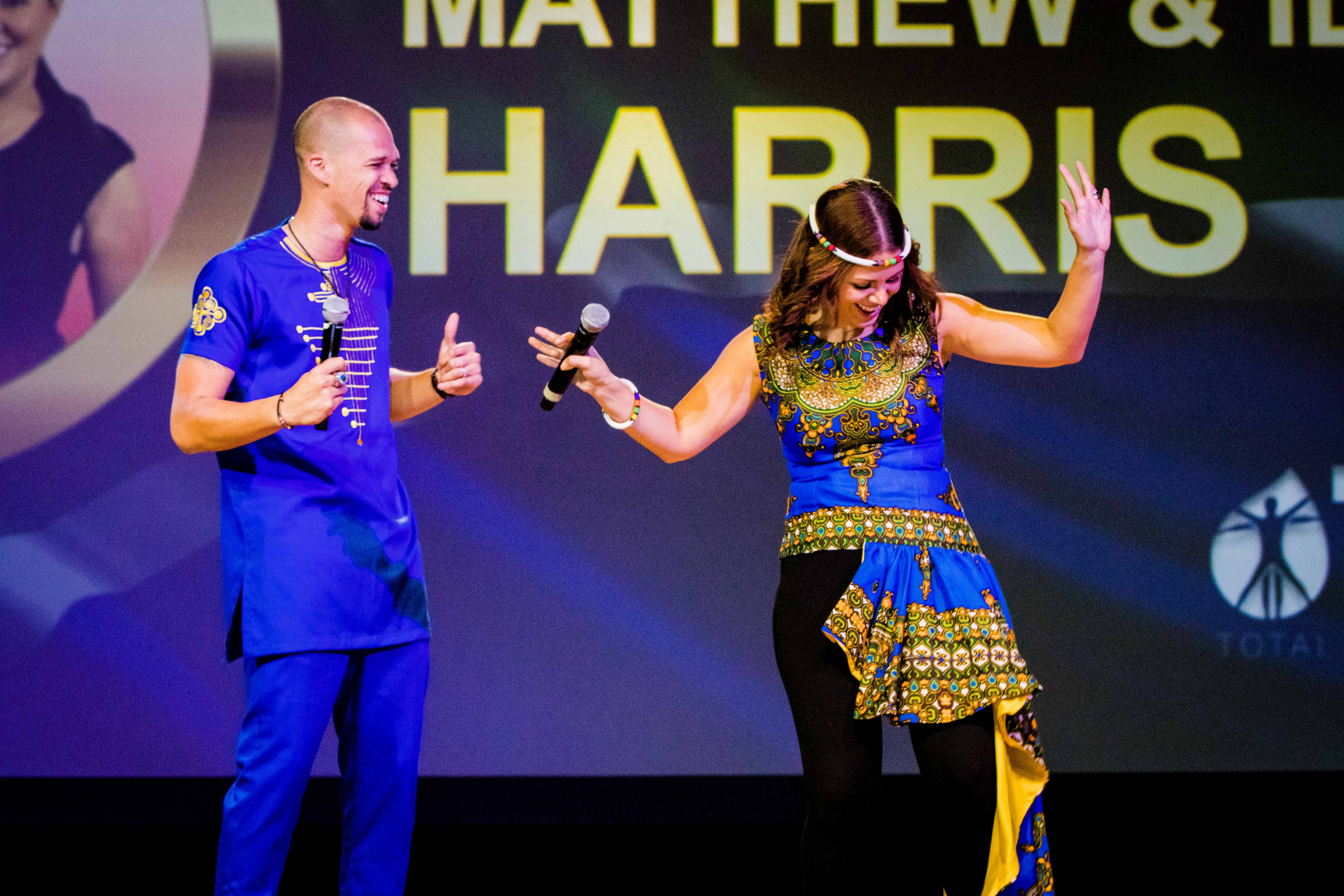 ilean and matthew harris on stage in South Africa   leadership   success   entrepreneurs